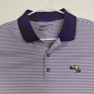 NWOT Nike Dri Fit Purple Stripe Bay Hill Golf Polo